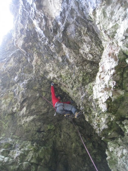 Tedi nearing the crux of Nekoristni svet (D8+)
