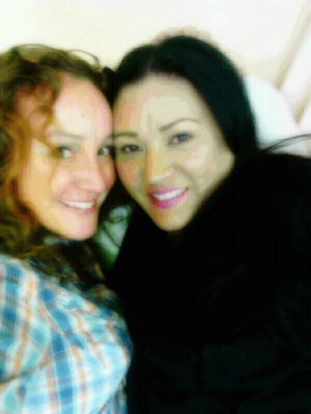 Yvonne and I in the Lab at work... in bed.  <br/>