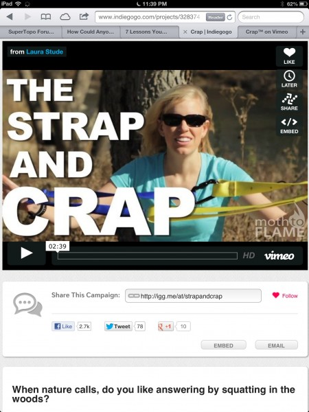 Strap and crap