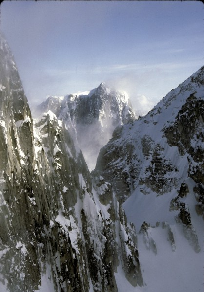 Middle Triple as seen from Gurney Peak, Kichatnas, Alaska
