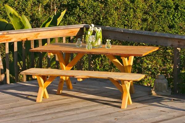 Leyland Cypress picnic table and bench