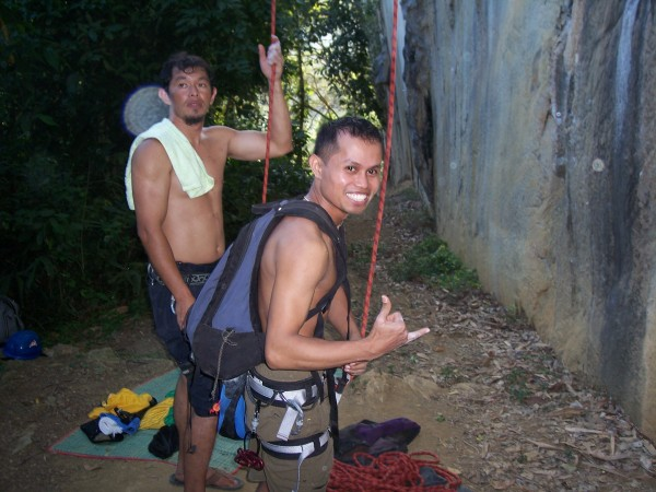 "This is Arnel (with backpack) and Willard. Arnel is scared to lead ""Vi..."