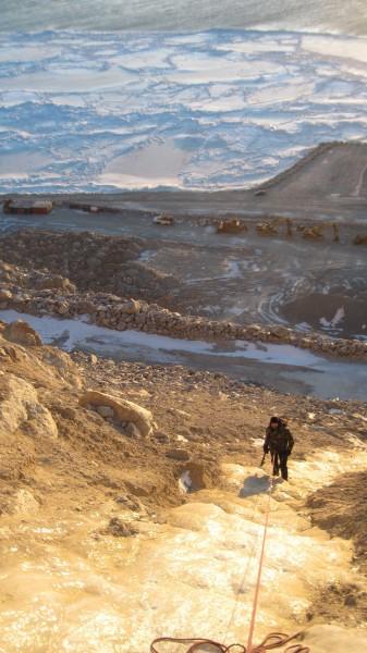 """Cape Nome Quarry, November 2012, Norton Sound, """"Sixth Iteration"""", WI1"""