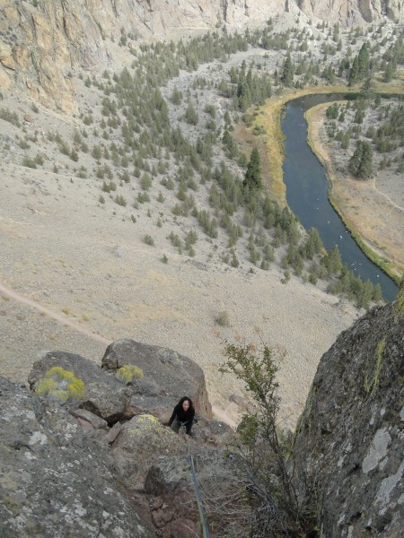 Last pitch of Peking, Smith Rock State Park.