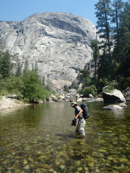My uncle on a San Joaquin River fishing trip