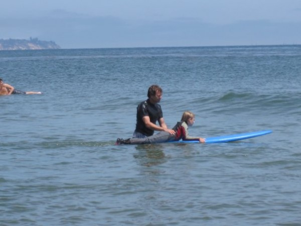 Campus Point, summer 2009, Ryan graduates from boogie boarding to the ...