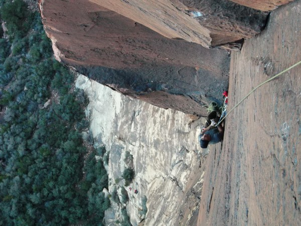 At the belay of pitch 3