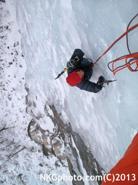 Roger hassel aproaching the belay. Float Like A Butterfly land like A ...