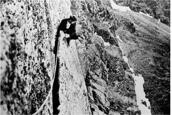 Siegfried Herford Great Flake Central Buttress Scafell 1914