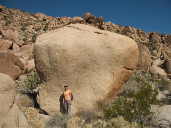 Bunch of boulders out there. I tried one with a good vertical crack. G...