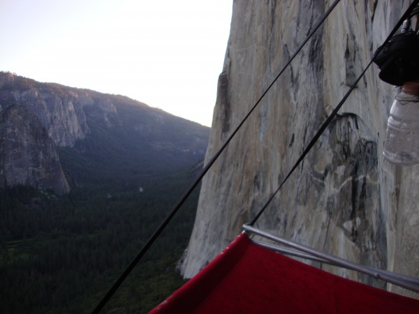 1st bivy, you can just see the drips on the ledge but the sunset was f...