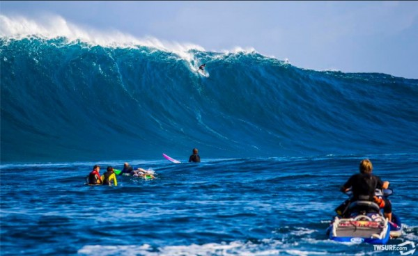 "Matt Meola on the wave of the day at Jaws as seen in the just-posted ""..."