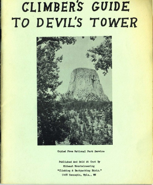 The very first Devils Tower Guide -- only 3 known to have survived.