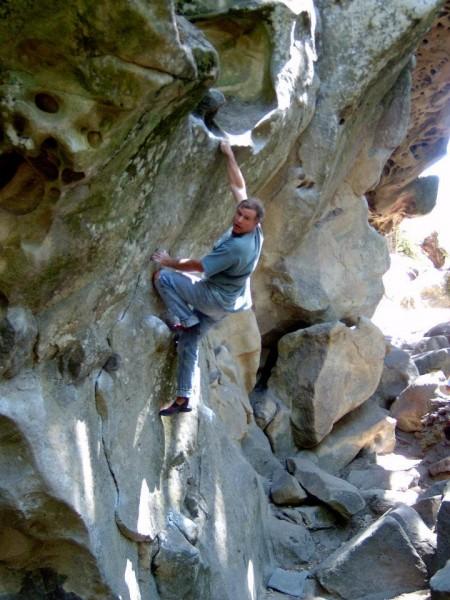 Mike Arechiga on Waimea Wall V1