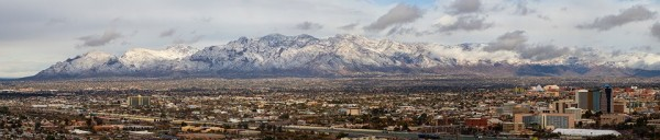 Panoramic - snow on the Santa Catalina Mountains above Tucson - Photo ...