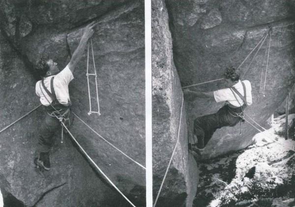Fontainebleau Climbing 1946 La voie de la Calanquaise 1