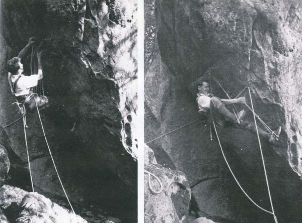 Fontainebleau Climbing 1946 La voie de la Calanquaise 2