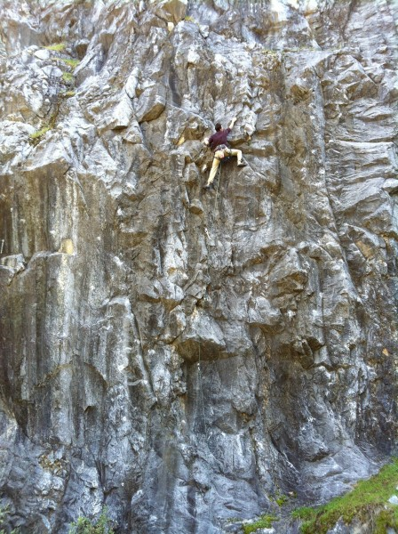 Will on Destructomatic .11b. Wreckage Wall, Auburn Quarry.
