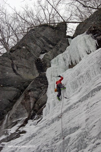 Isa's 1st lead of Spiral Staircase WI4