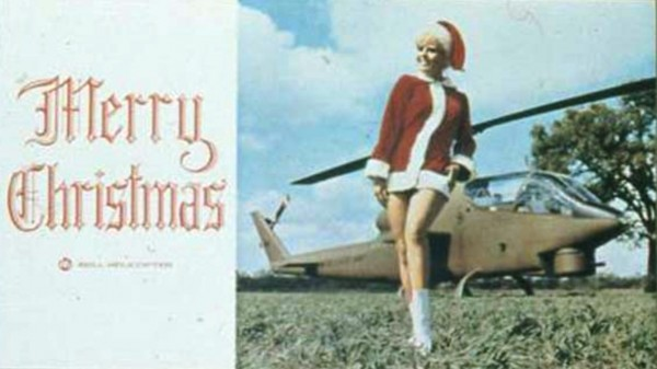 Bell Helicopter Christmas Card 1967