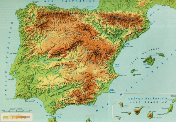 Map Of Spain With Mountains.Landscapes Mountains And Climbs In Spain Supertopo Rock