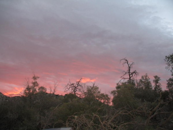 sunrise this morning in the SoCal Santa Rosas.