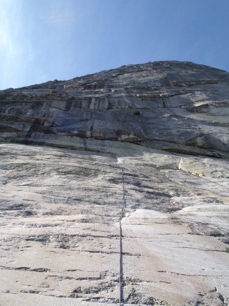 Heading up the slabs.  oh yeah.