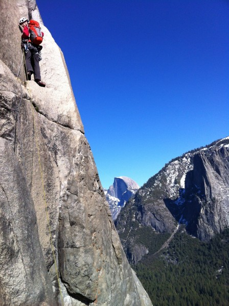 Gettin' it done high on the East Buttress