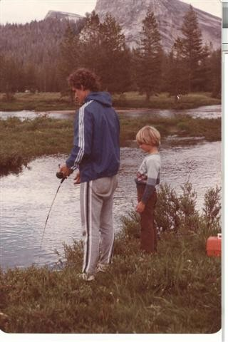 Dan and our youngest, Seth, fishing after climbing.