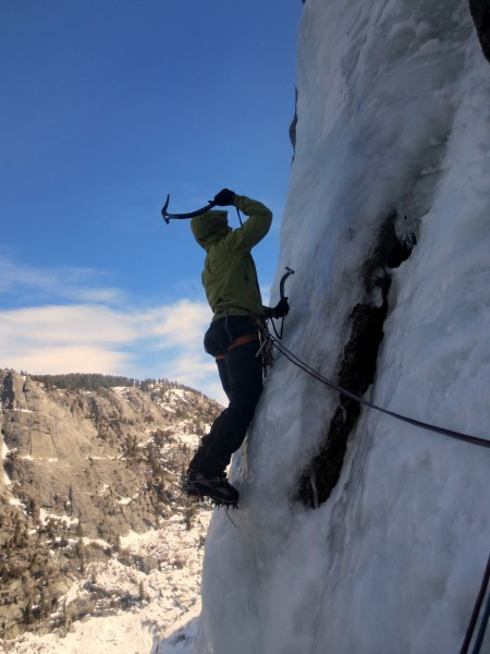 Me on pitch two! Easy sticks and super fun climbing.