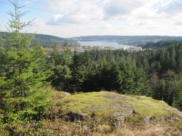 "The view east from the summit of the ""crag."" Port Moody BC in backgrou..."