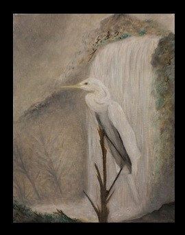 egret waiting for a shower... by neebeeshaabookway... author of the ja...