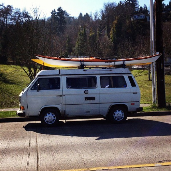 My rig, after a sweet mid-morning paddle yesterday.