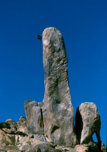 Mike Harbison on Hercules Finger, High Desert.