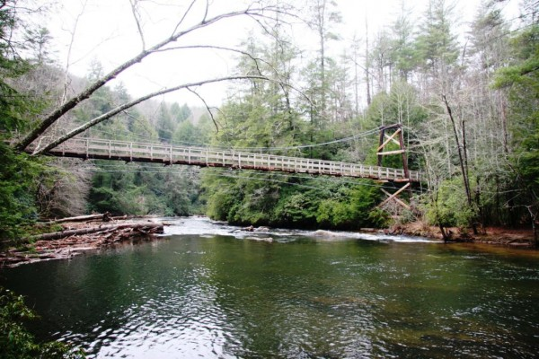 Appalachian Trail pedestrian bridge over the Toccoa River