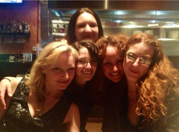 Beloved theatre gals!  Some of the cast and the director of Lysistrata...