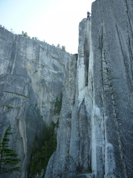 Crux 10c pitch of Squamish Buttress