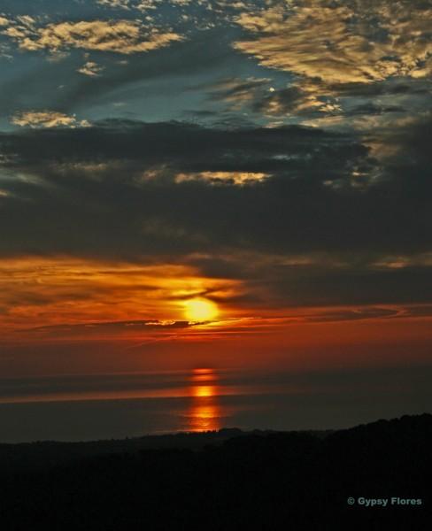 2006 sunrise in Tagliu-Isulaccia, Corsica