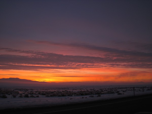 Sunrise from north of Winnemucca, NV.