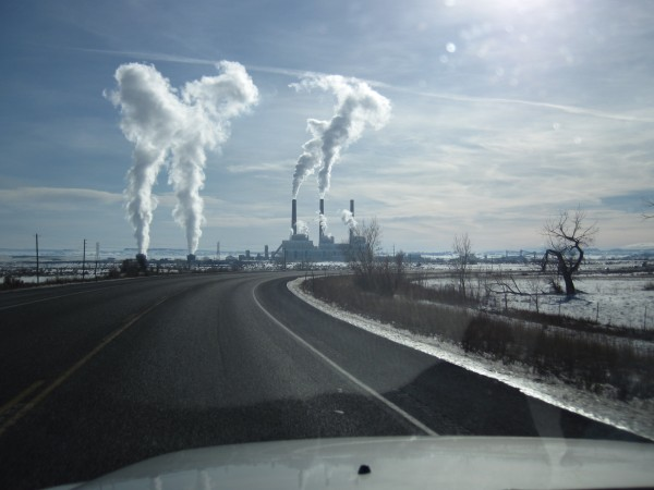 The coal-fired Hunter Power Station - coal power is big in Utah (1/8/1...