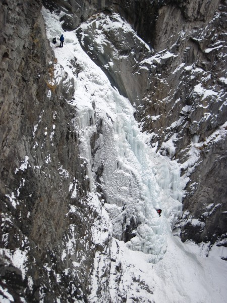 Bear Creek Falls with climbers - a couple of years ago Frank and I cli...