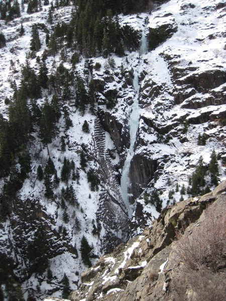 The ice on Horsetail Falls was excellent and was the perfect first mul...