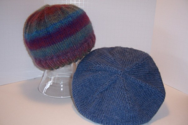 hand-knit cap and tam
