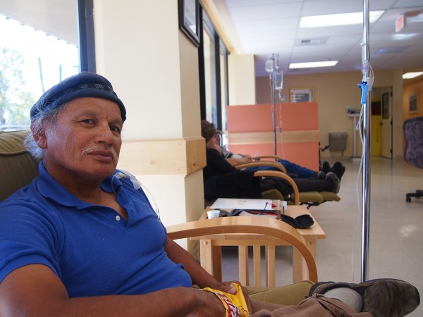 Clark Hanging at the Chemo Lounge