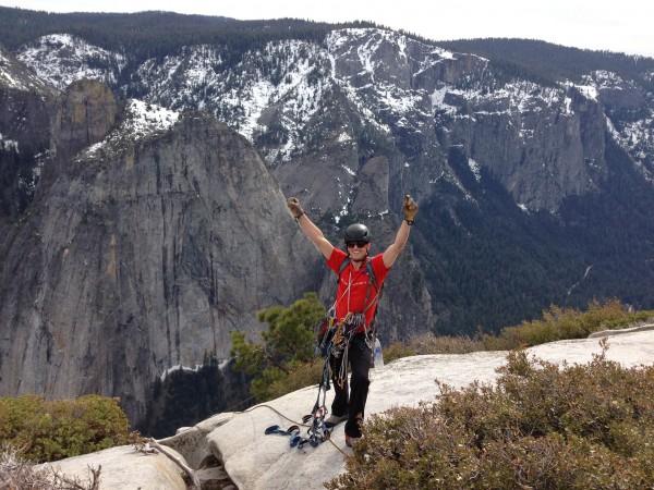 Chris McNamara submitting El Capitan (the nose)