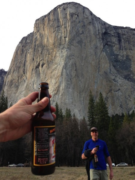 Back with plenty of time to send the El Cap Layback. From left to righ...