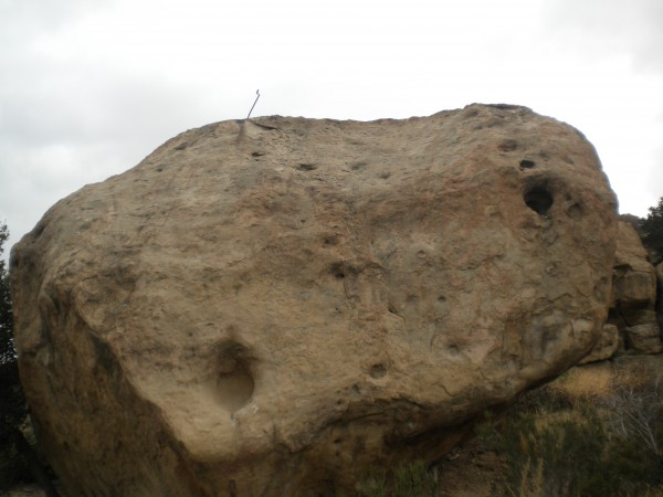 Chouinard's Hole on The FrankenStuff Boulder.