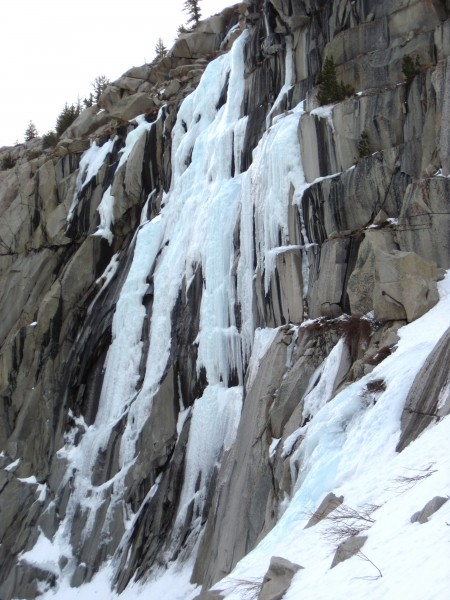 The Main Wall ice is steeper and much more fun than the Chouinard Fall...