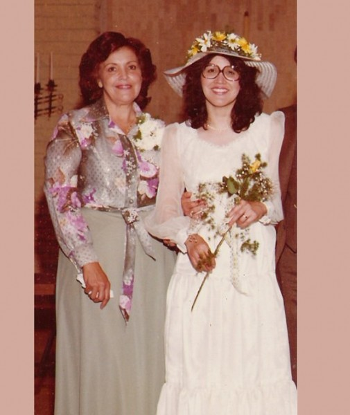 My mom and grandmother on mom's wedding day to my step dad.  <br/>