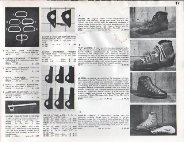 Ski Hut Catalog 1969/70